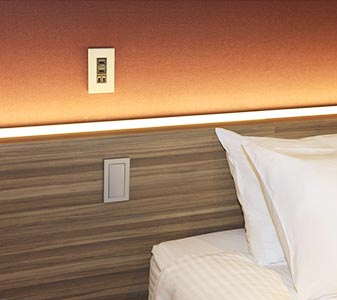 Electrical outlets and USB ports by every bedside